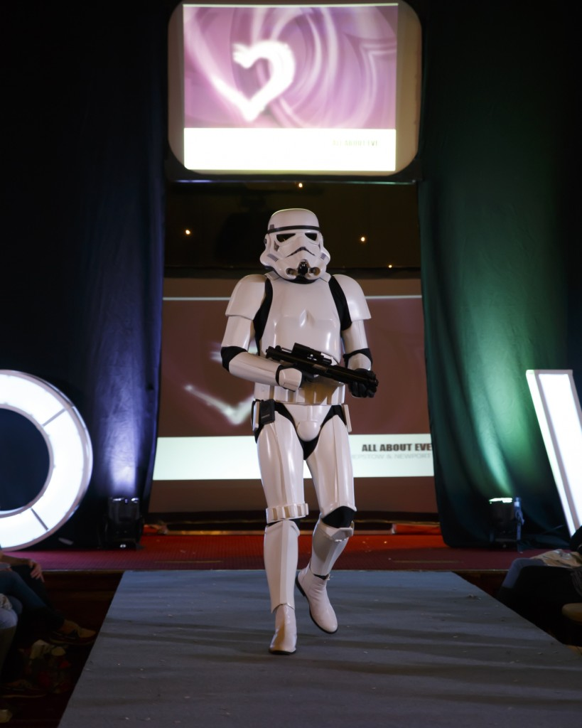 Wedding show Wales storm trooper